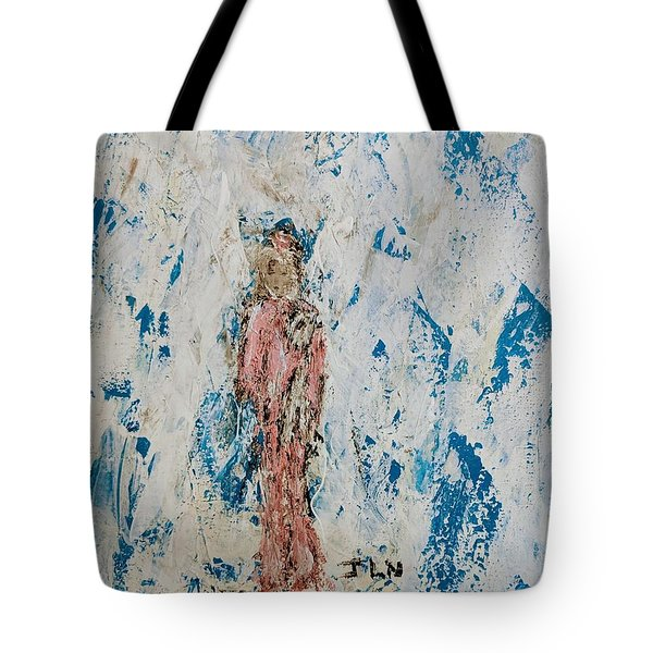 Angel With Her Pet Goat Tote Bag