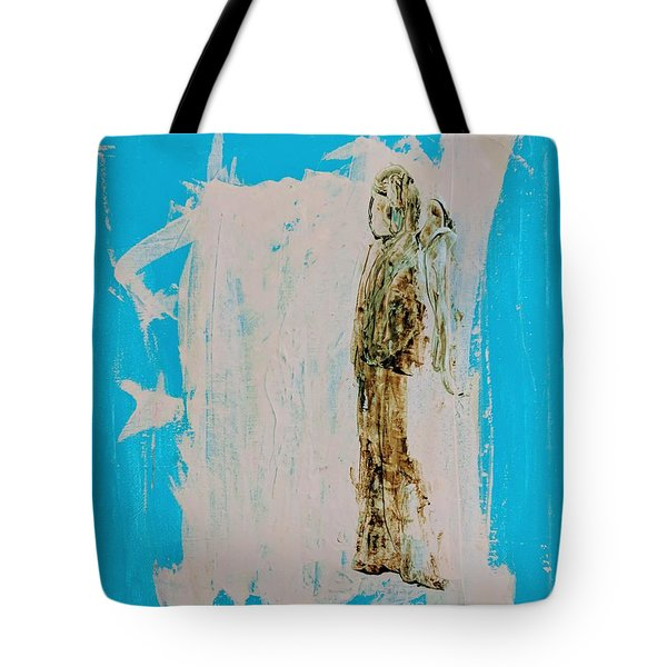 Angel With His Dog Wings Tote Bag