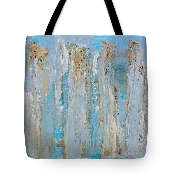 Angels Coming Together Tote Bag