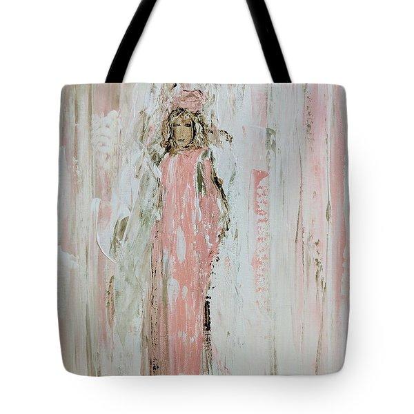 Angels In Pink Tote Bag