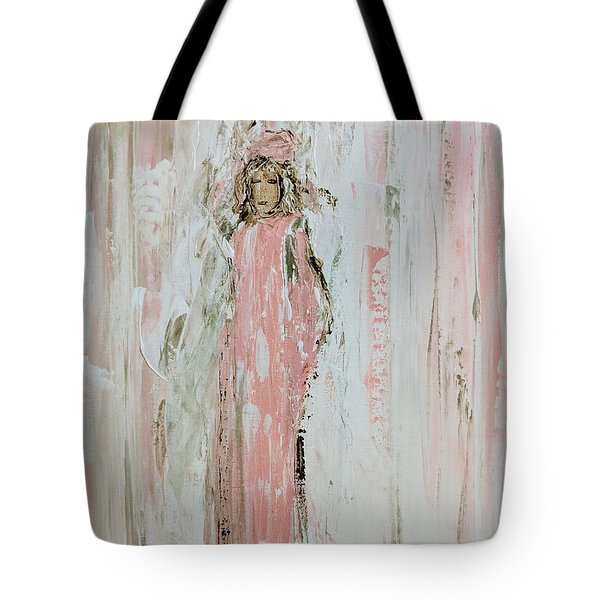 Angels In Pink Tote Bag