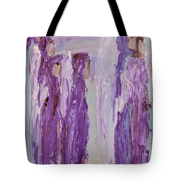 Angels In Purple Tote Bag