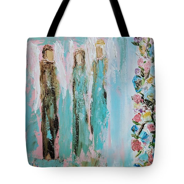 Angels In The Garden Tote Bag