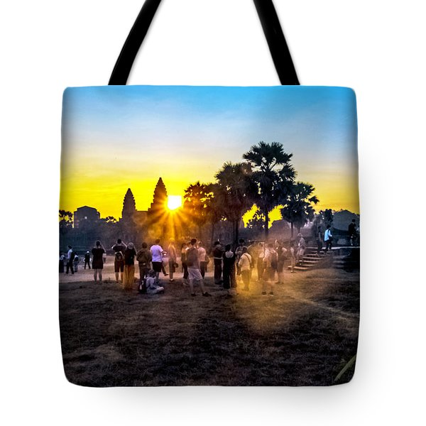 Angkor Wat At Sunrise - Siem Reap, Cambodia Tote Bag