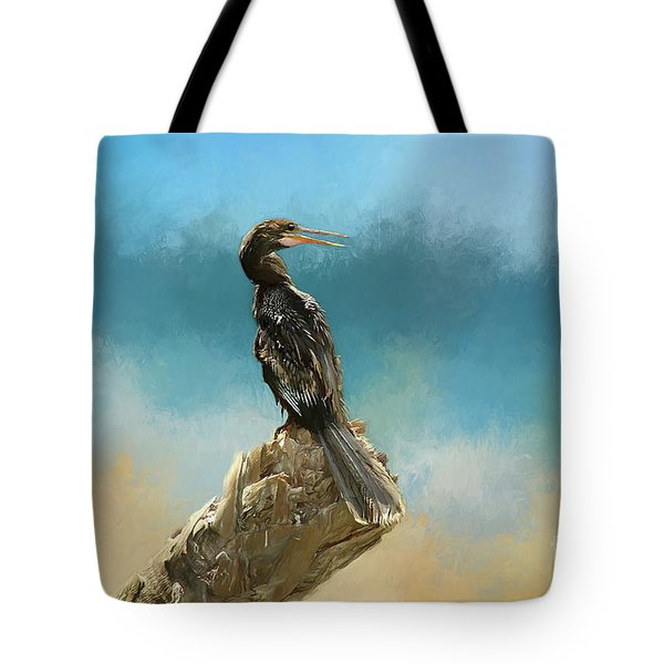 Anhinga Digital Painting Tote Bag