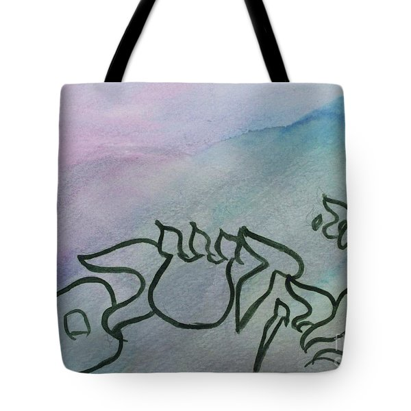 Tote Bag featuring the painting Ani Adonai Mekadeshchem Gn8 by Hebrewletters Sl