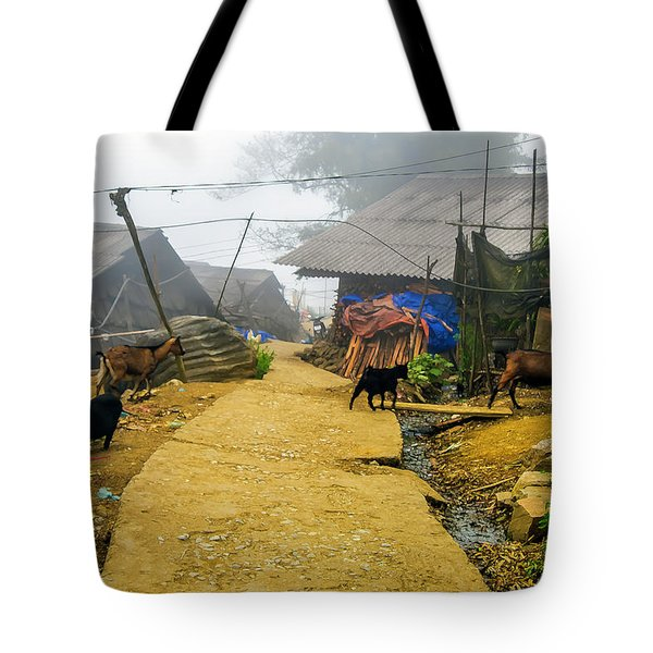 Animal Farm In Sapa, Vietnam Tote Bag