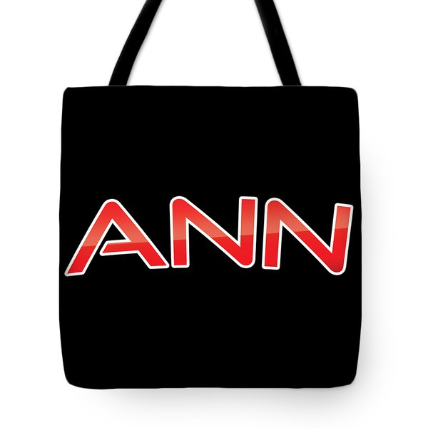 Tote Bag featuring the digital art Ann by TintoDesigns