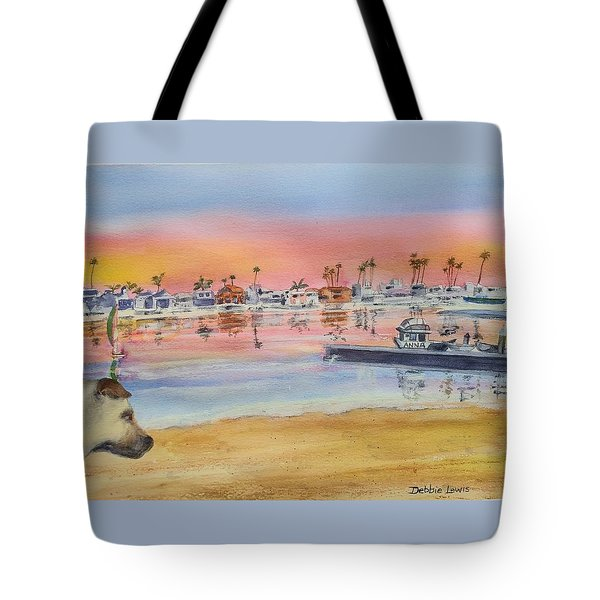 Tote Bag featuring the painting Anna At 61st Place #2 by Debbie Lewis
