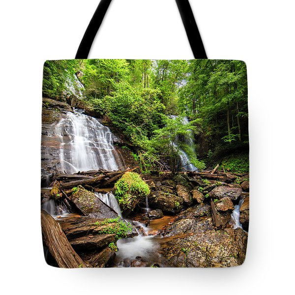 Tote Bag featuring the photograph Anna Ruby Falls by Andy Crawford