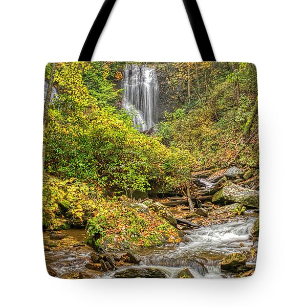 Tote Bag featuring the photograph Anna Ruby Falls Stream by Meta Gatschenberger