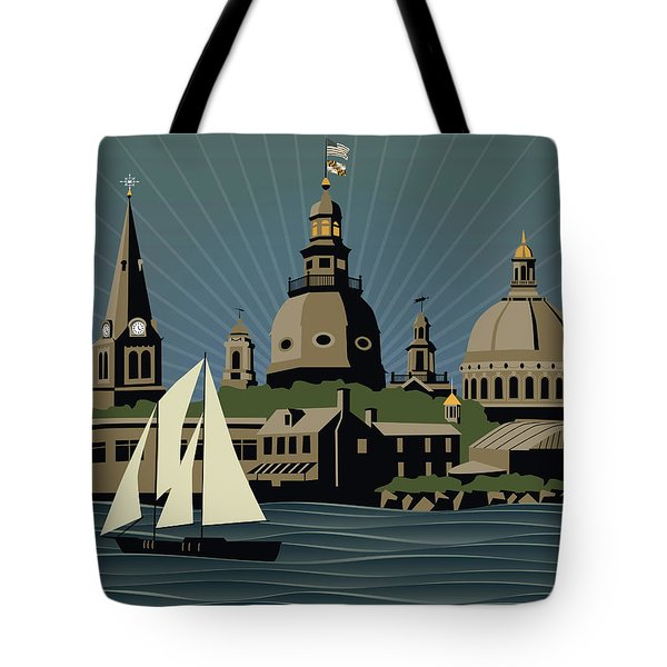 Annapolis Steeples And Cupolas Serenity Tote Bag