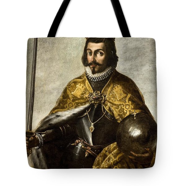 Anonymous / 'san Fernando', Xvii Century, Oil On Canvas, 1.15 X 0.92 M. Fernando IIi De Castilla. Tote Bag