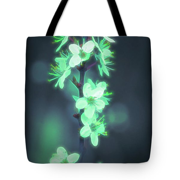 Another World - Glowing Flowers Tote Bag