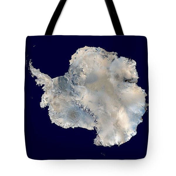 Antarctica 6400px From Blue Marble Tote Bag