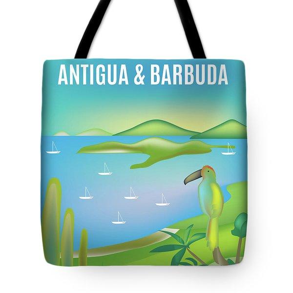 Antigua And Barbuda, Vertical Skyline Tote Bag