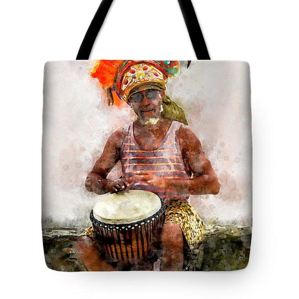 Antiguan Drummer Tote Bag