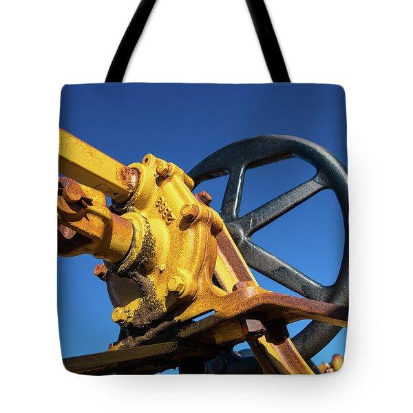Antique Catepillar Hand Wheel Tote Bag