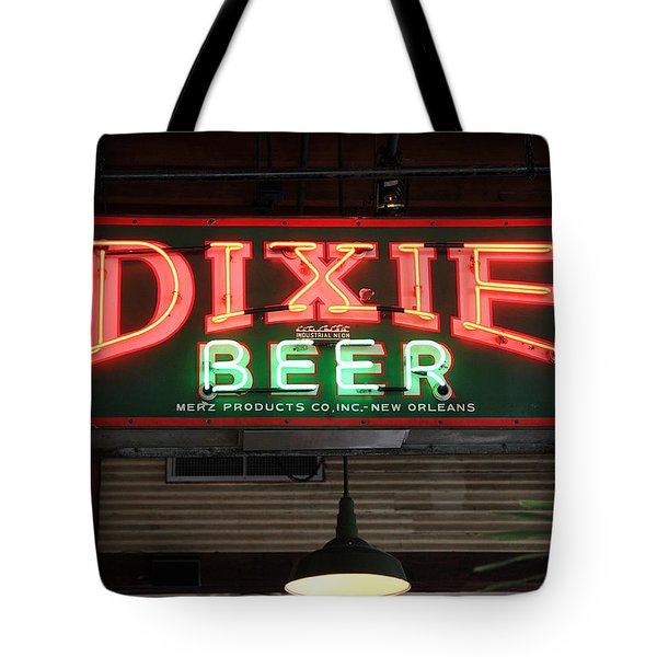 Antique Dixie Beer Neon Sign Tote Bag