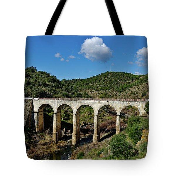 Antique Mertola's Bridge In Alentejo Tote Bag