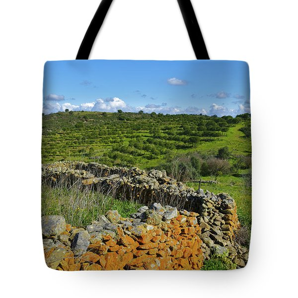 Antique Stone Wall Of An Old Farm Tote Bag