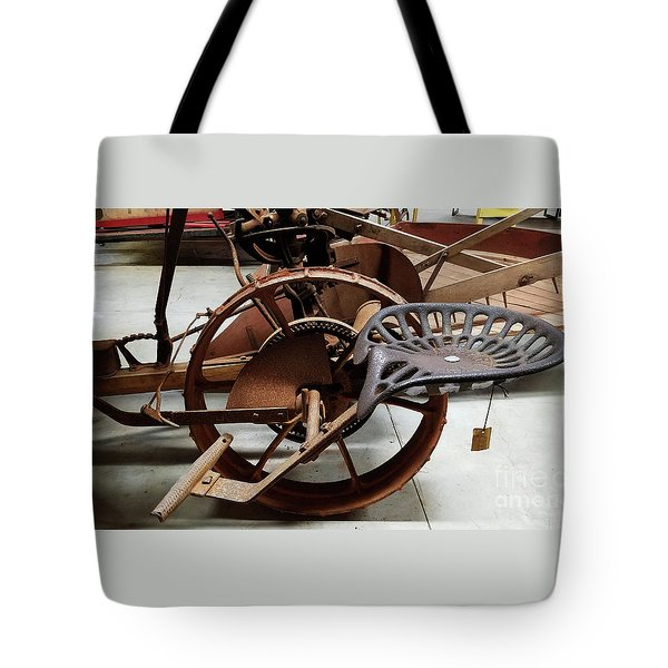 Antique Tractor Seat Tote Bag