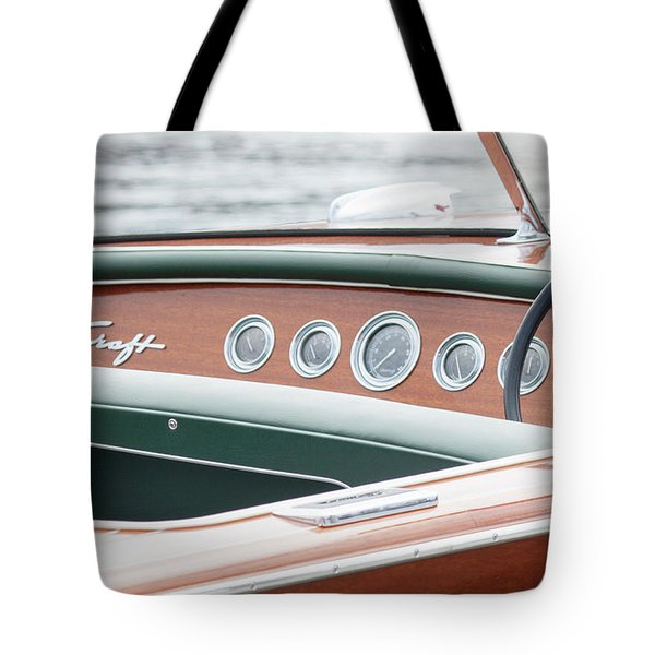 Antique Wooden Boat Dashboard 1306 Tote Bag