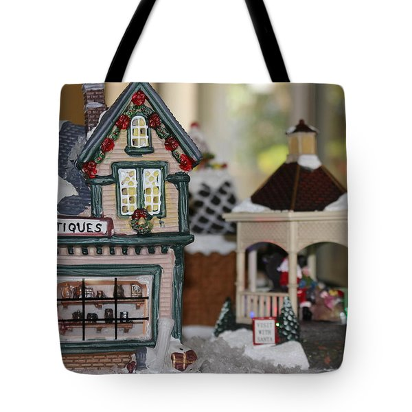 Antiques In Christmas Town Tote Bag