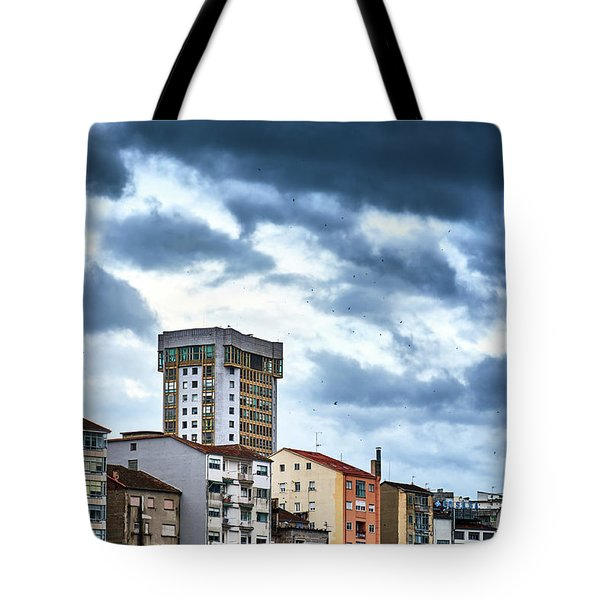 Tote Bag featuring the photograph Apartment Buildings In Ourense by Eduardo Accorinti