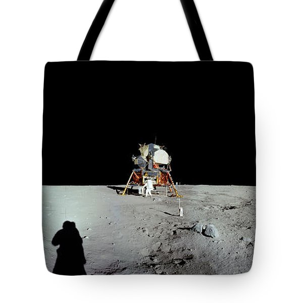 Apollo 11 Panorama Of The First Men Tote Bag
