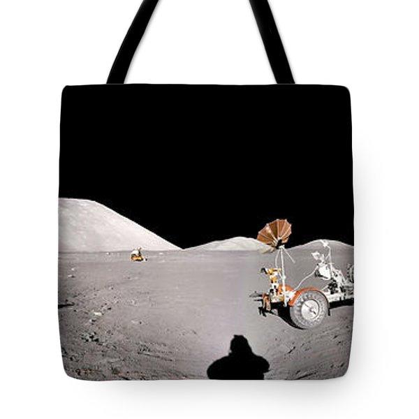 Apollo 17 Taurus-littrow Valley The Moon Tote Bag