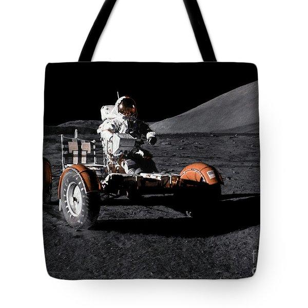 Apollo Eleven Drawing Tote Bag
