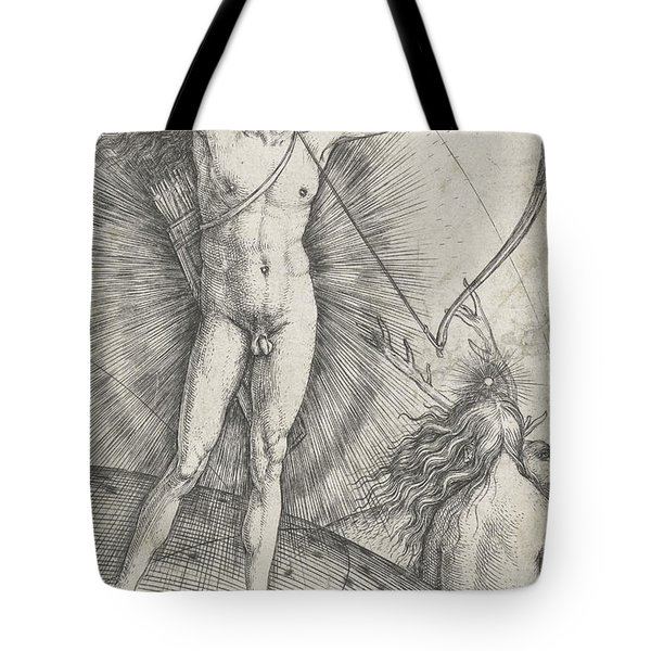 Apollo With Bow And Arrow On Celestial Globe And Diana With Deer Tote Bag