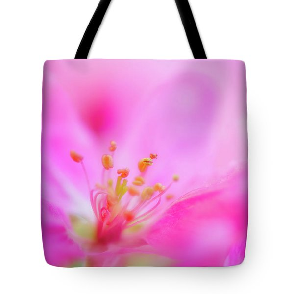 Tote Bag featuring the photograph Apple Blossom 1 by Leland D Howard