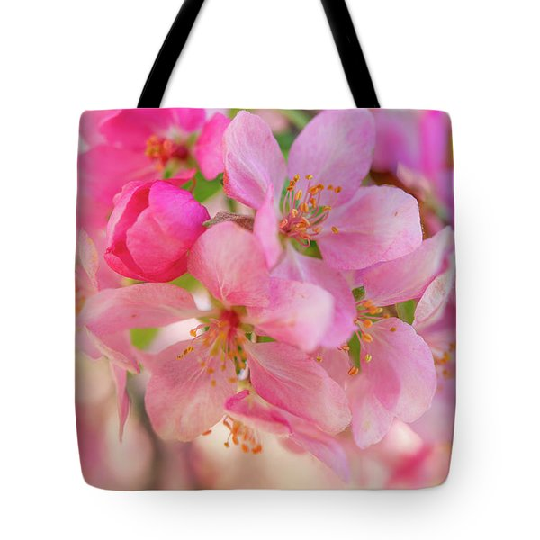 Tote Bag featuring the photograph Apple Blossom 12 by Leland D Howard