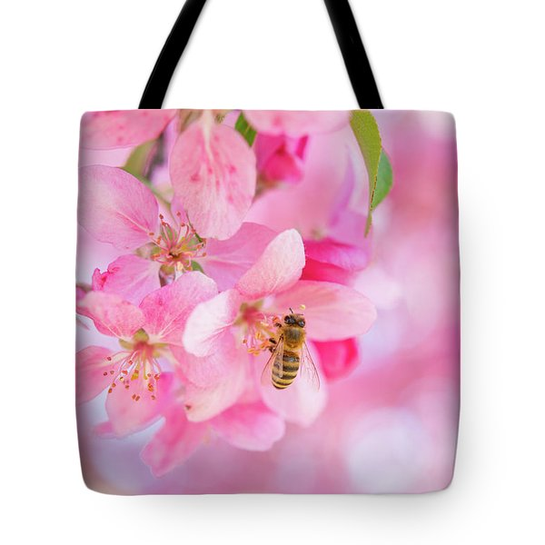 Tote Bag featuring the photograph Apple Blossom 2 by Leland D Howard