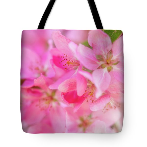 Tote Bag featuring the photograph Apple Blossom 5 by Leland D Howard