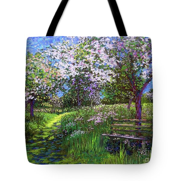 Apple Blossom Trees Tote Bag