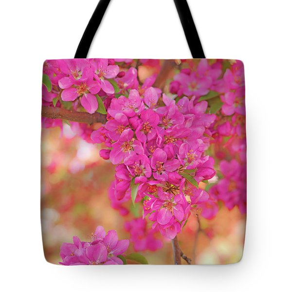 Tote Bag featuring the photograph Apple Blossoms A by Leland D Howard