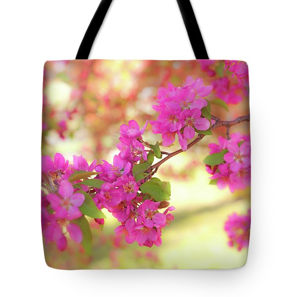 Tote Bag featuring the photograph Apple Blossoms B by Leland D Howard