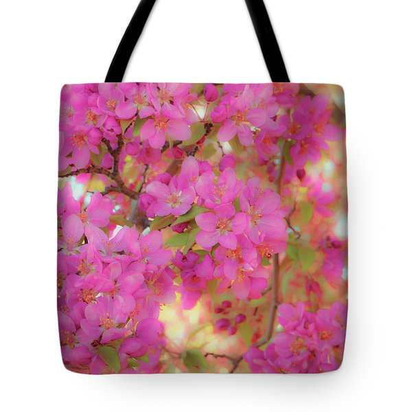 Tote Bag featuring the photograph Apple Blossoms C by Leland D Howard