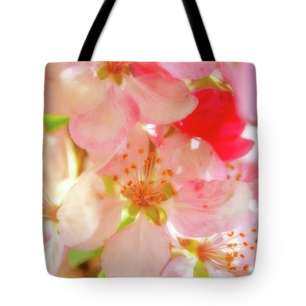 Tote Bag featuring the photograph Apple Blossoms Textures by Leland D Howard