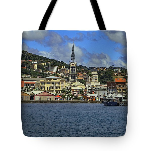 Tote Bag featuring the photograph Approaching Fort De France by Tony Murtagh