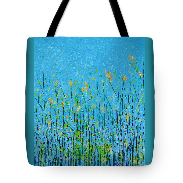 Tote Bag featuring the painting April by Corinne Carroll