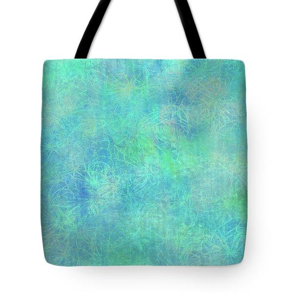 Aqua Batik Print Coordinate Tote Bag
