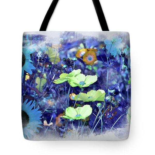 Aqua Blue Tote Bag