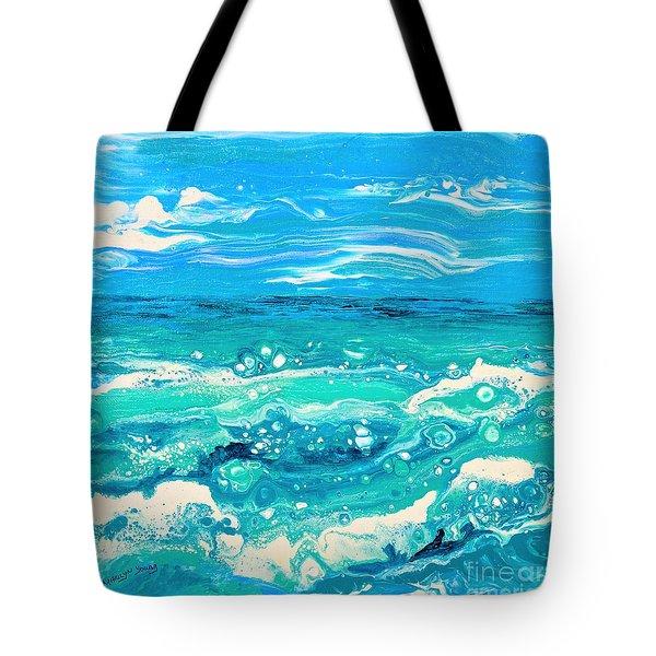 Aqua Seafoam Tote Bag