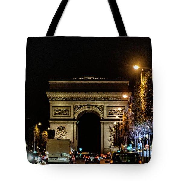 Tote Bag featuring the photograph Arc De Triomphe by Randy Scherkenbach