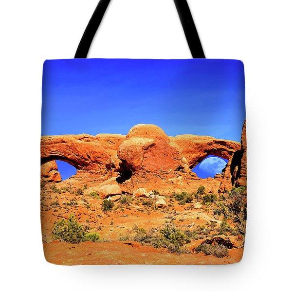 Arches Moon Eye Tote Bag