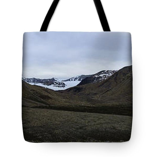 Arctic Mountain Landscape Tote Bag